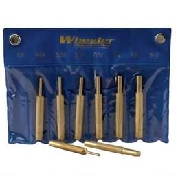 Wheeler Wheeler 8 Piece Brass Punch Set