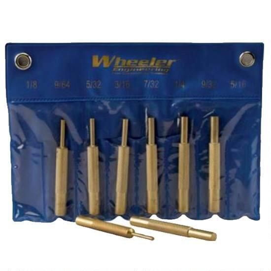 Wheeler Wheeler 8 Piece Brass Punch Set
