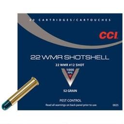 CCI CCI Shotshell 22 WMR #12 Shot 52 Grain Pest Control