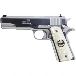 "Iver Johnson Arms Iver Johnson Arms 1911A1 45 ACP 5"" Barrel Full Chrome Mother Of Pearl Grips"
