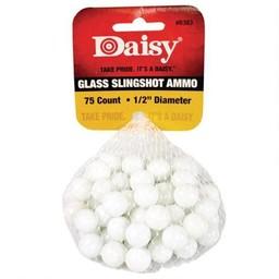 "Daisy 1/2"" Glass Slingshot Ammo (75-Count)"