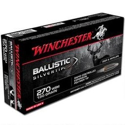 Winchester .270 WSM Ballistic Silvertip 130 Grain Rapid Controlled Expansion Polymer Tip