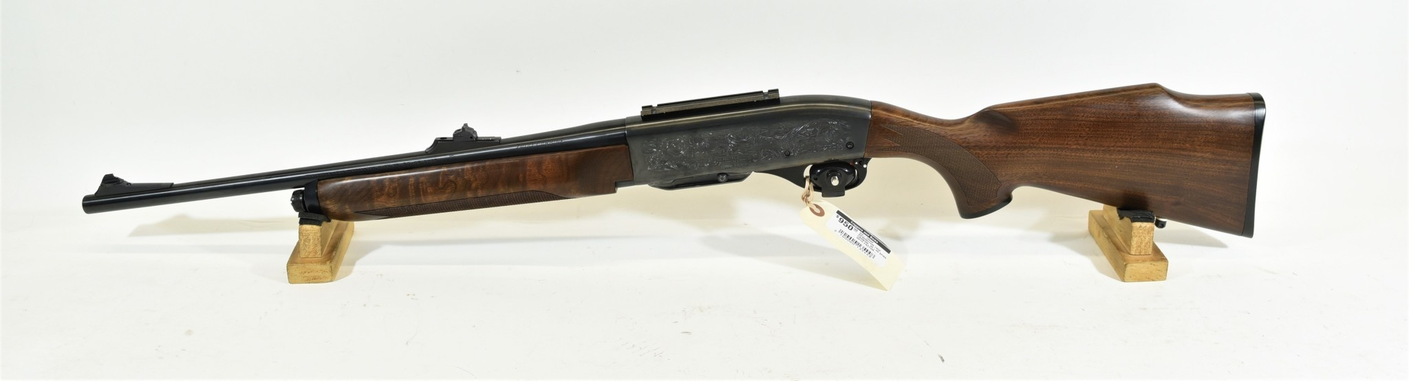 UG-12682 USED Remington 7400 Carbine  30-06 Sprg  w/ Factory Engraved  Receiver, Synthetic Stock and Forearm, Plus Original Wood Stock and Forearm