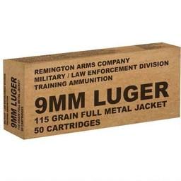 Remington Remington 9mm Luger 115 Grain FMJ 50 Rounds Training Ammo