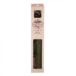 """Shakespeare Wild Series 6'6"""" 4 Piece Medium Rod And Reel Combo With Cloth Wrapped PVC Protective Tube"""