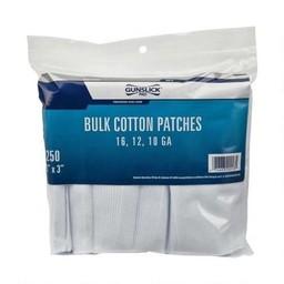 Outers Gunslick 16/12/10 Gauge Bulk Cotton Patches (250-Count)