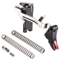 Zev Tech Zev Tech Fulcrum Adjustable Trigger Drop-In Kit 1ST-3RD Gen 9mm Black/Red