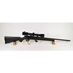 Savage Arms UG-12837 USED Savage Mark II .22LR Heavy Barrel Synthetic Stock w/ Bushnell 3-9X Scope 10-Round Magazine