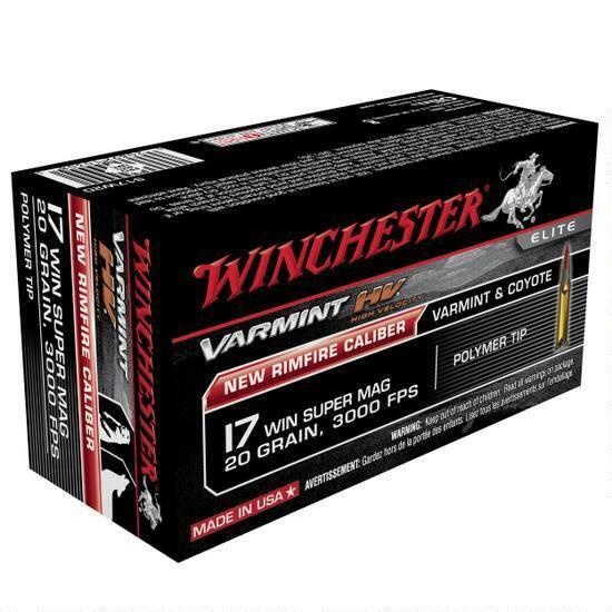Winchester Winchester Varmint High Velocity .17 Win Super Mag 20 Grain 3000FPS Polymer Tip (50 Rounds)