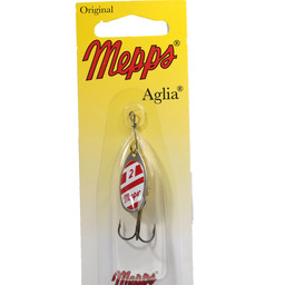 Mepps Mepps Aglia Shallow Runner In-Line Spinner Red/white