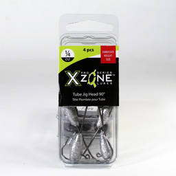 X Zone Lures X Zone Lures Pro Series 1/4 Oz Tube Jig Head 90 Degree