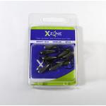 X-Zone Tube Jig Head 1/8 Oz Size #2/0 8 Pack