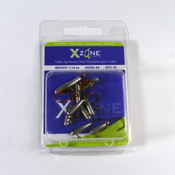 X Zone Lures X Zone Crappie/Panfish Tube Jig Head 1/16 Oz Size #4 (10-Pack)