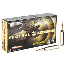 Federal Premium Federal Premium 7mm Rem. Mag. 168 Grain Berger Hybrid Hunter