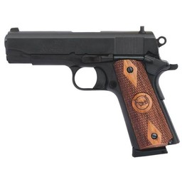 "Iver Johnson Arms Iver Johnson Arms Falcon 45 ACP Commander 4.25"" Barrel Blued Finish Walnut Grips"