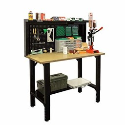 """Stack On 48"""" Reloading Bench 29""""-41"""" Table Height"""