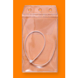 CGG Hunting License Holder Clear With Zip Tie