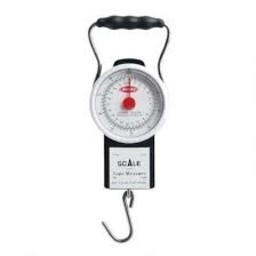 Berkley Portable 50LB Dial Scale With Built In Tape Measure