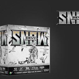 "Hevi-Shot Hevi-Shot Hevi-Snow 12 Gauge 3"" Shot #1 1500FPS (250 Rounds)"