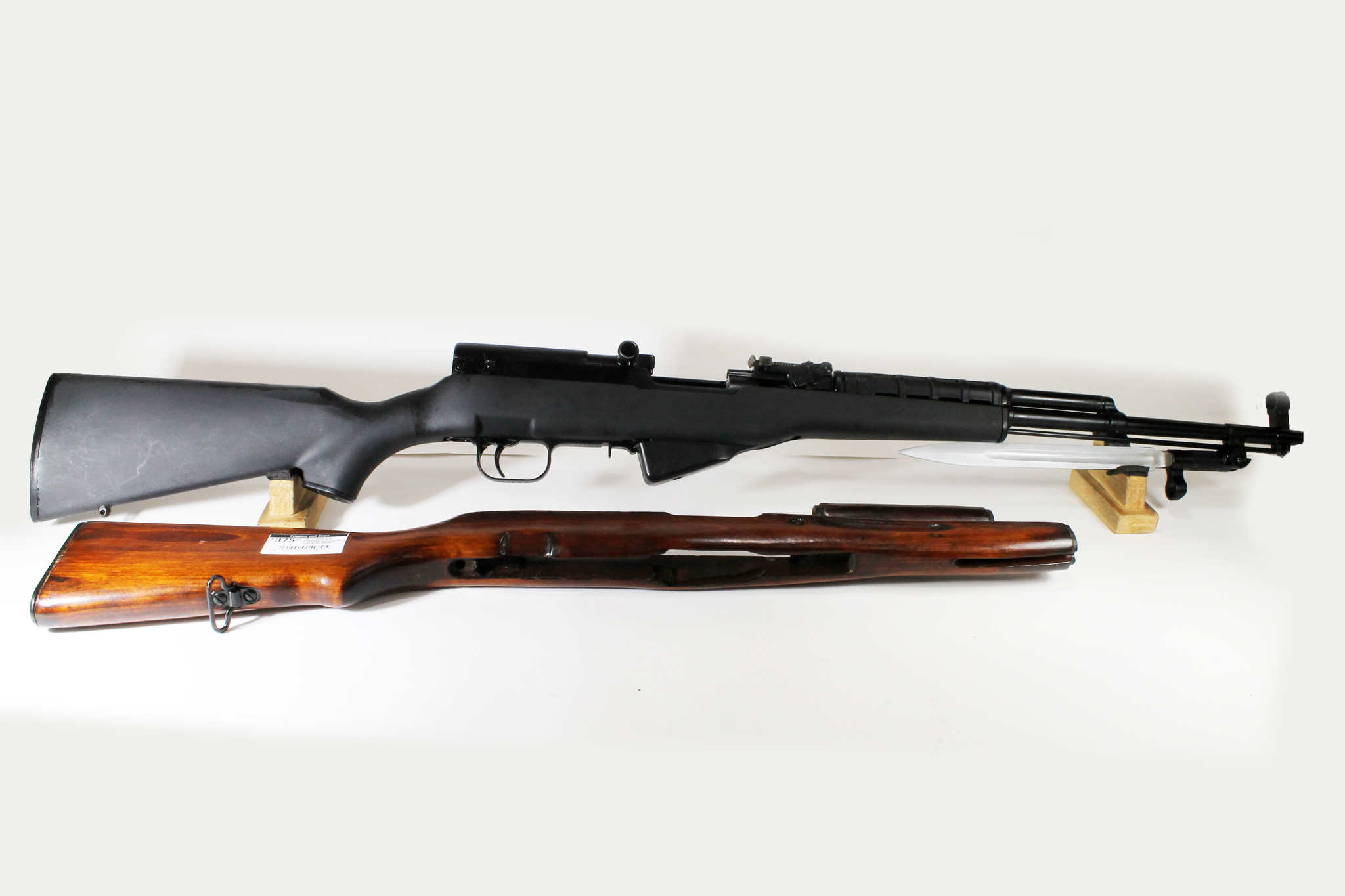 UG-13082 USED SKS Russian Rifle 7.62x39R w/ Ram Line Synthetic Stock and Original Stock
