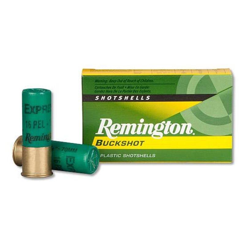 "Remington Remington 12 Gauge 2 3/4"" Shot #1 Buckshot 16 Pellet (5 Rounds)"