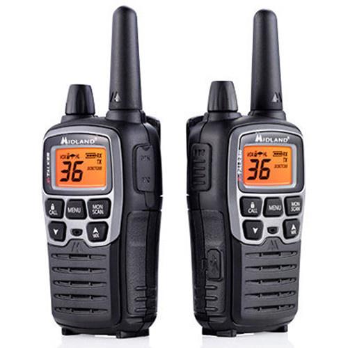 Midland X-Talker Two Way Rechargeable radio 38 Mile Range Black Color