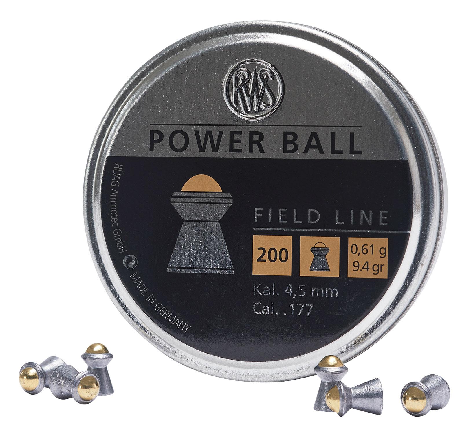 RWS .177 Cal Power Ball Pellets 9.4 Grain (200 Count)