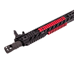 Phase 5 Red Anodized Picatinny Rail Sections (3 Sections)