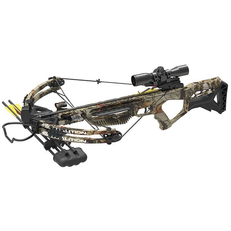 PSE Coalition Crossbow Package w/ 3 Bolts and Illuminated 4x Scope Camo Finish