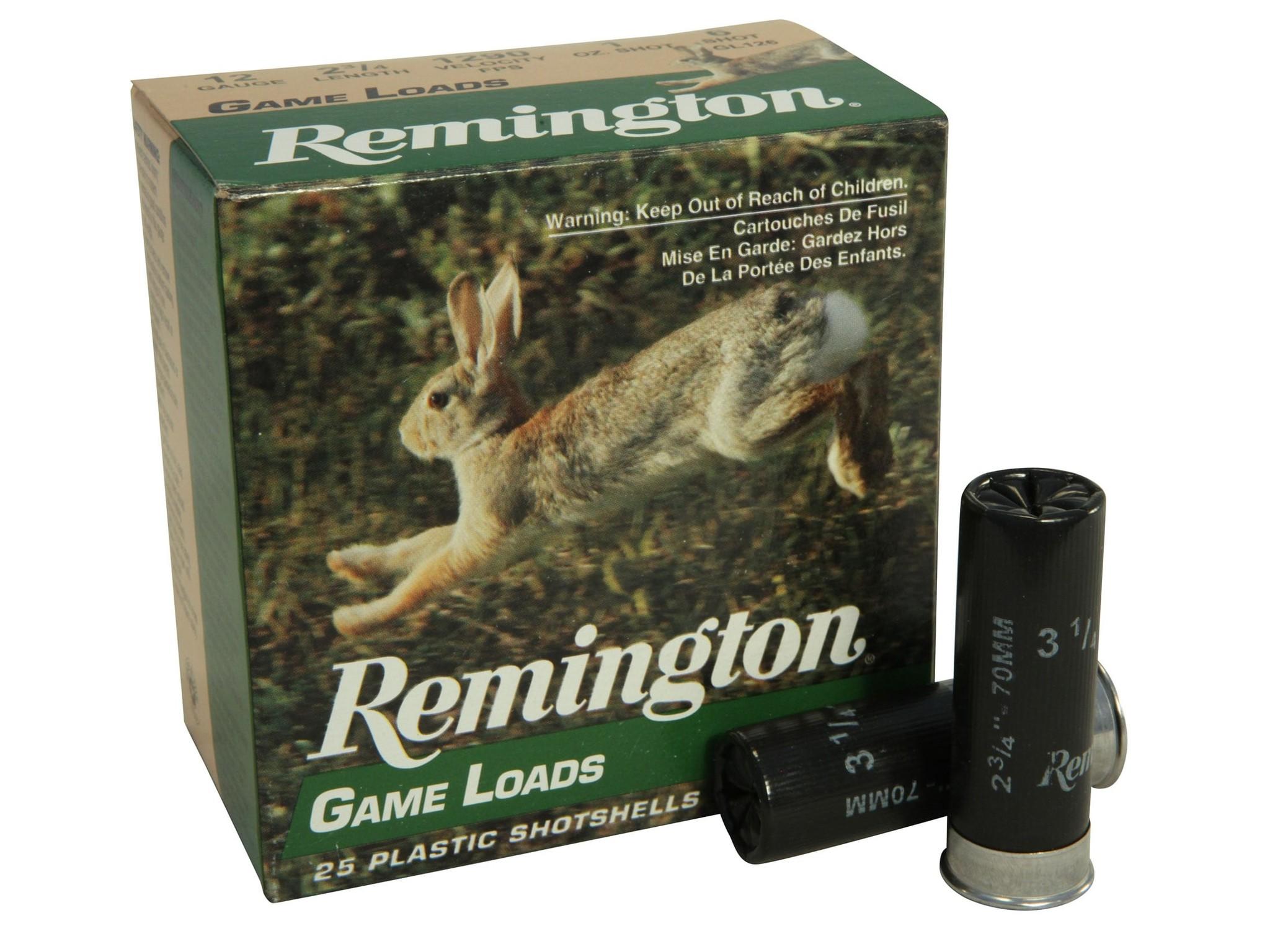 """Remington Remington Game Load 12 Gauge 2 3/4"""" 1Oz #6"""