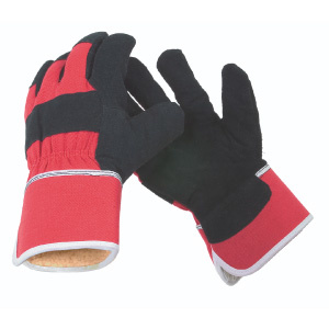 G. Hjukstrom Ltd. Glove Acrylic Fleece Lined Cowsplit Leather
