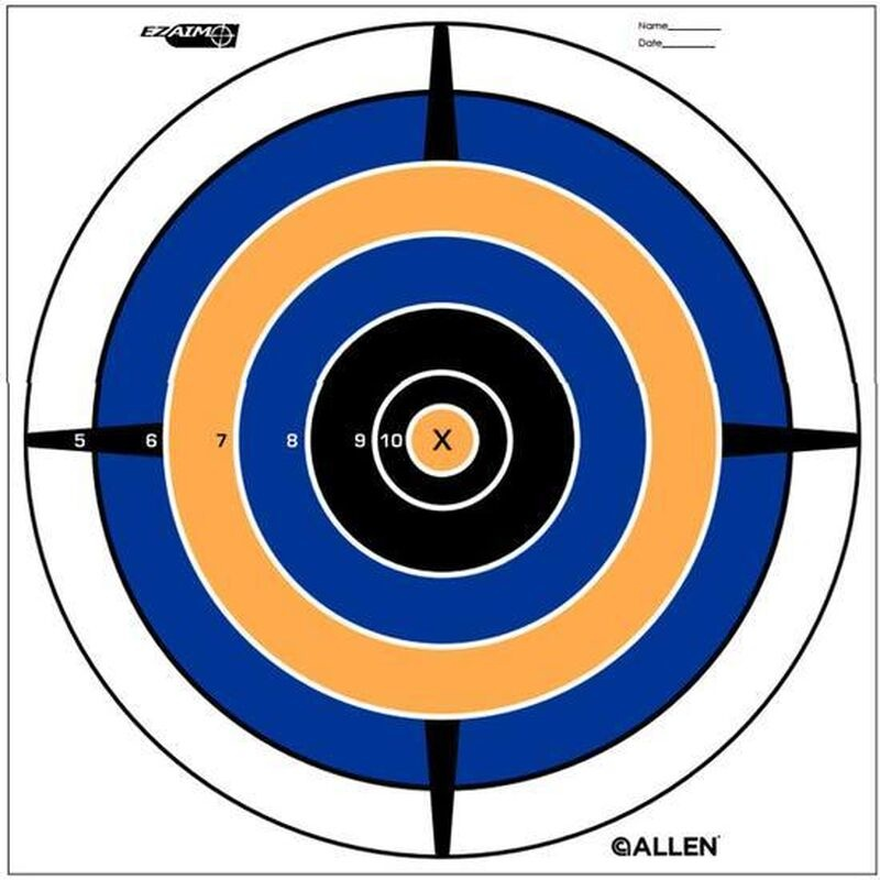 Allen Allan EZ Aim Bullseye Targets 12 Pack