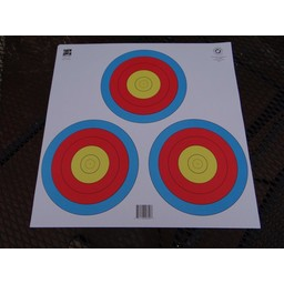 Maple Leaf 3-Spot Triangular Archery Target