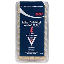 CCI CCI V-Max .22 WMR 30 Grain 2200FPS Varmint Polymer Tip (50 Rounds)