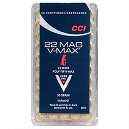 CCI CCI V-Max .22 WMR 30 Grain 2200FPS Varmint Polymer Tip (50-Rounds)