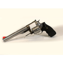"USED UHG-6863 Ruger Redhawk Stainless 44 Mag, 7.5"" barrel with Pachmeyer Grips and original grips and speed loader"