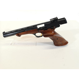Browning UHG-6840 USED Browning Medalist .22LR Target Handgun w/ Original Case, Weights Bullet Block and Tool and Original Manual (left side of barrel has marks in the blueing)