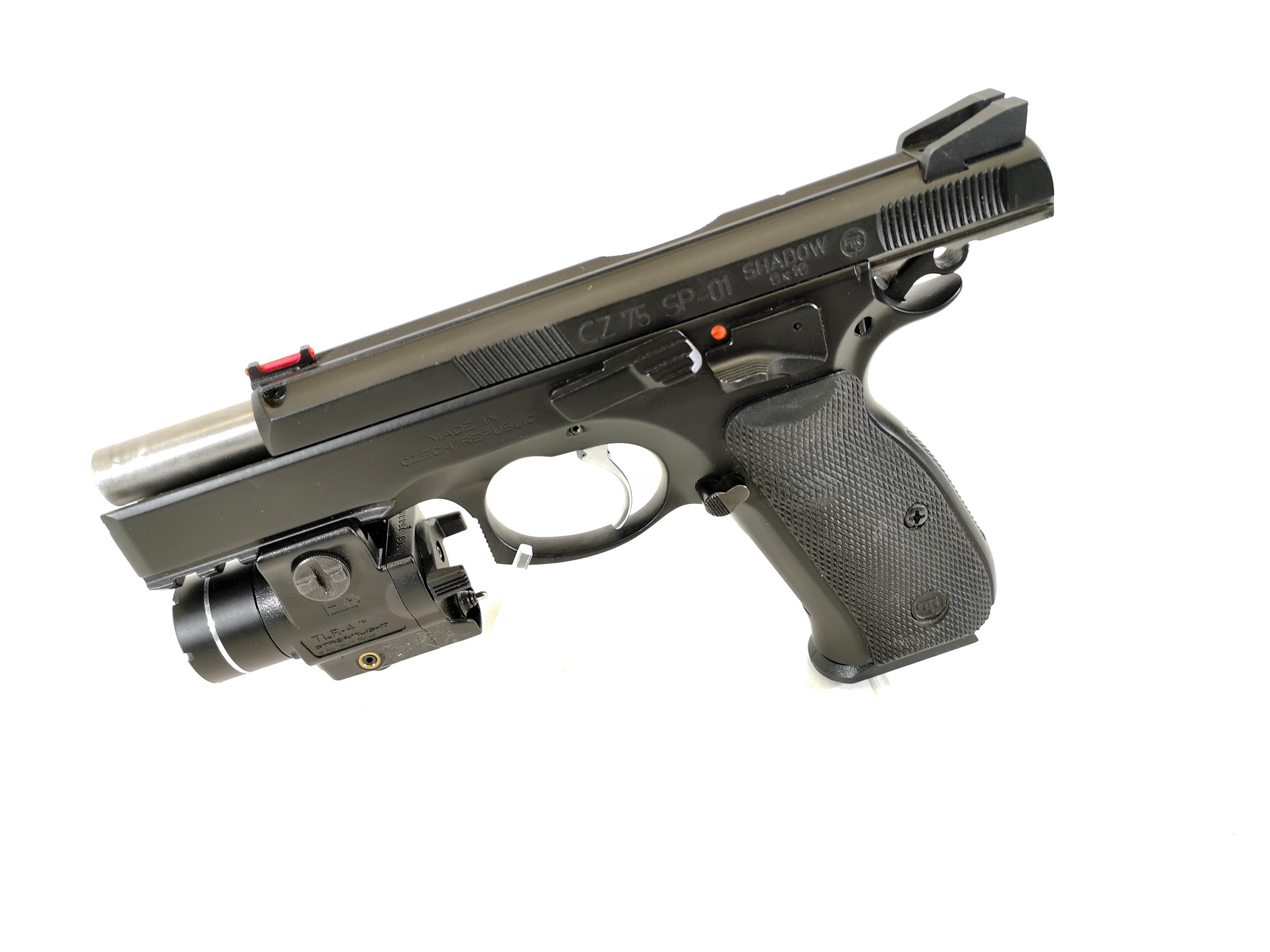 UHG-6475 USED CZ SP-01 Shadow 9mm w/ 2 Magazines and TLR-4 Flashlight