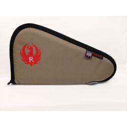 """Allen Ruger 13"""" Pistol Soft Case Taupe/Red"""