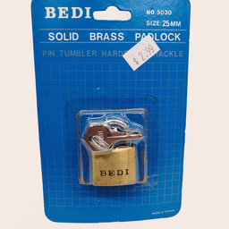 Bedi Bedi Solid Brass Padlock 25mm
