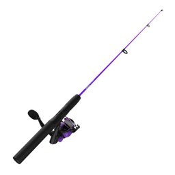 "Zebco Zebco Dock Demon 30"" 1 Piece Spinning Reel Combo 6# Purple"