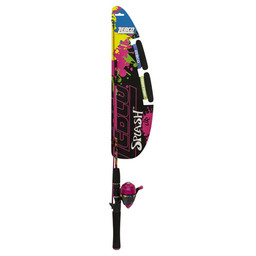 Zebco Zebco Splash Junior Girl Spin Cast Rod/Reel Combo Pink/Black