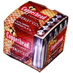 Crosman Copperhead 12g Co2 Cartridges (25-Pack)