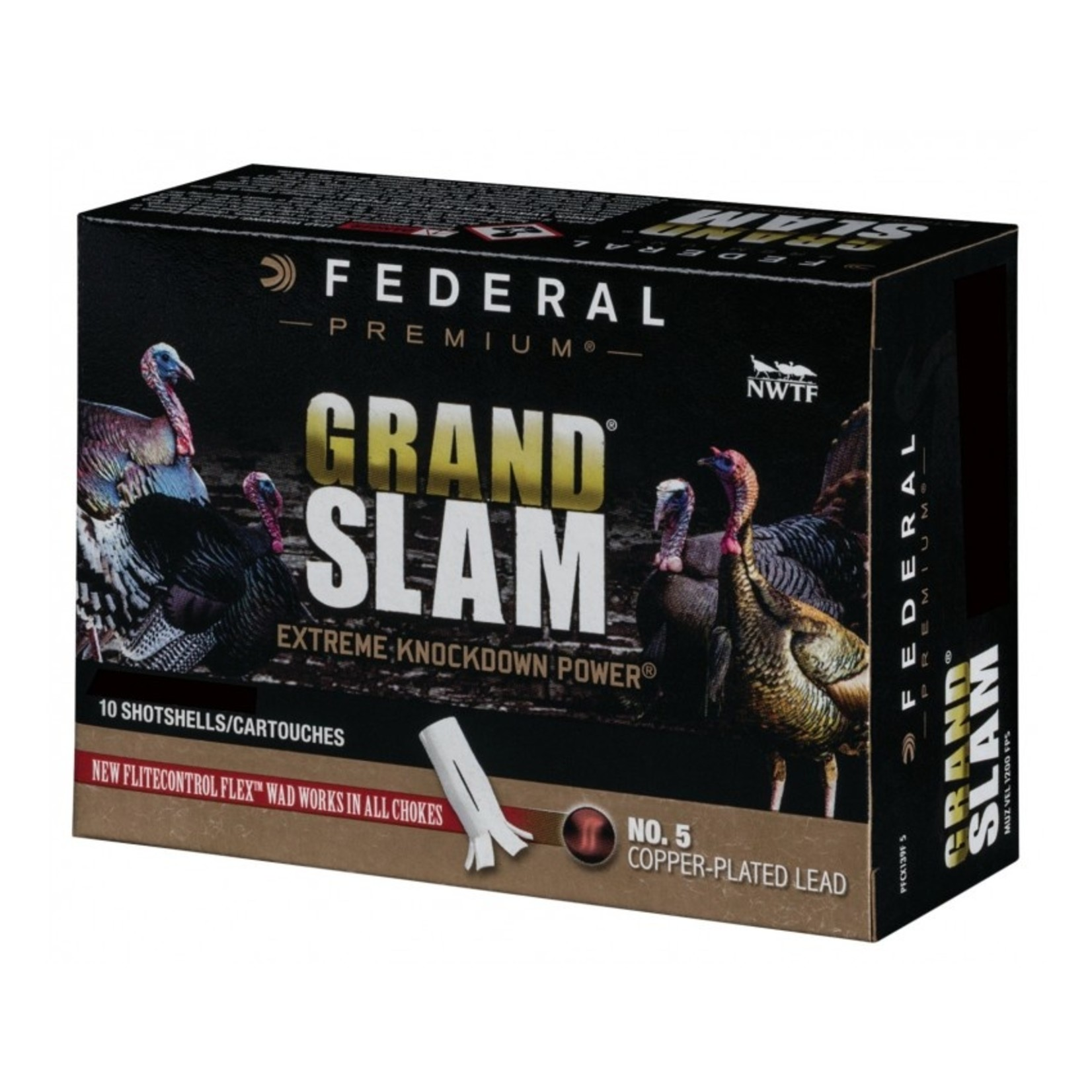 """Federal Grand Slam Copper Plated Lead Shells 10 Gauge  3 1/2""""(10 Rounds)"""