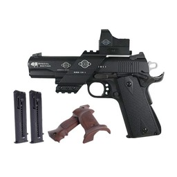 GSG 1911 Special Edition .22LR Black Finish, Extra Grips, Bridge Mount, and Red Dot