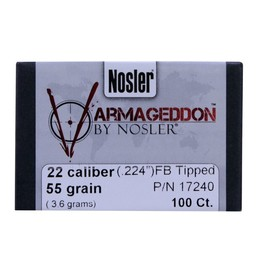 """Nosler Nosler Varmageddon .224"""" Diameter 55 Grain Polymer Tip Flat Base (100-Count)"""