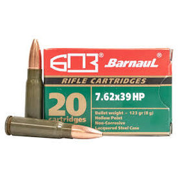 Barnaul 7.62x39 HP 123 Grain (20-Rounds)