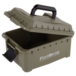 Flambeau Outdoors Flambeau Shotsheel Ammo Can Olive Green (Holds 4 Boxes of 25 Round 12 and 20 Gauge)