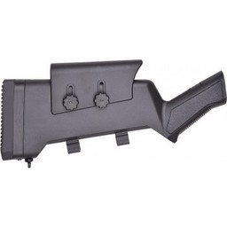 Canuck Tactical Stock with Adjustable Cheek Piece and Shell Holder, Compatible with Most 12 Gauge Turkish Pump and SA Shotguns