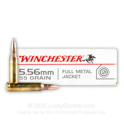Winchester Winchester Target 55 Grain Full Metal Jacket (500 Rounds)